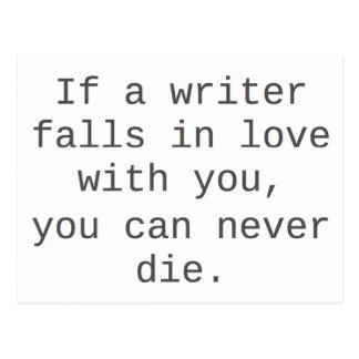 """""""Si un escritor cae en amor con usted…"""" productos Postal"""