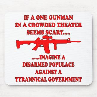 Si un pistolero en un teatro es asustadizo imagíne tapete de raton