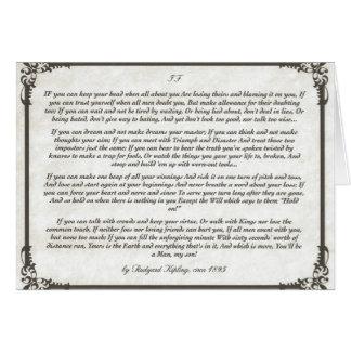 SI = un poema inspirador para los hombres jovenes Tarjeta