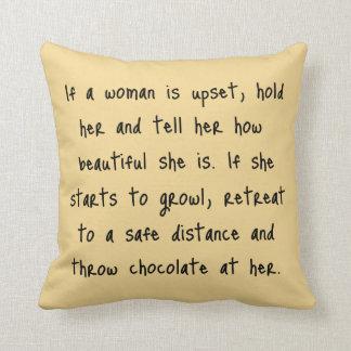 Si una mujer está trastornada cojín