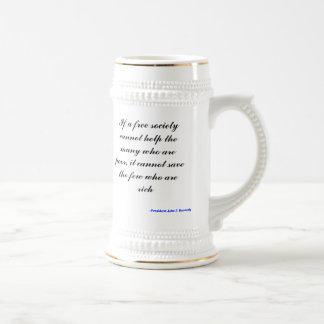 Si una sociedad libre no puede ayudar al muchos qu tazas de café