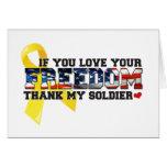 Si usted ama su libertad agradezca a mi soldado felicitación