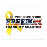 Si usted ama su libertad agradezca mi Coastie Postal