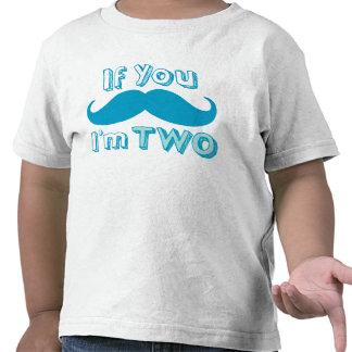 Si usted bigote, yo es la camisa DOS en azul