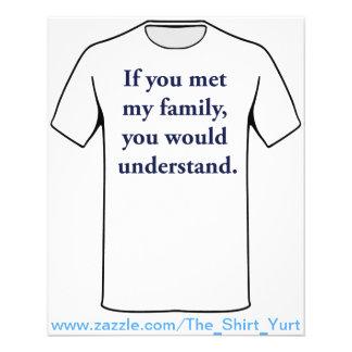 "Si usted encontrara a mi familia, usted entendería folleto 4.5"" x 5.6"""