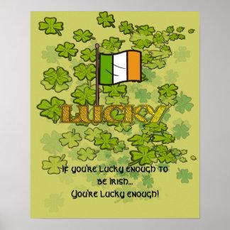 Si usted es bastante afortunado ser irlandés…