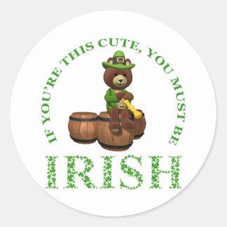 Si usted es este lindo usted debe ser irlandés pegatinas