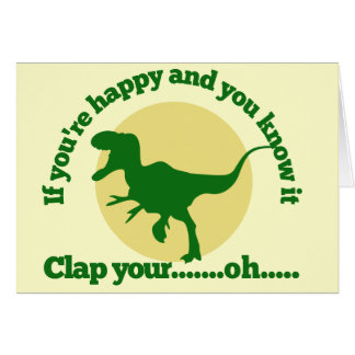 Si usted es feliz y usted lo sabe tarjeta pequeña