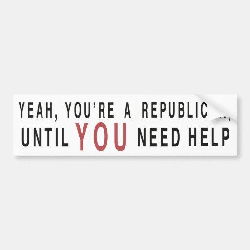 Sí, usted es un republicano… pegatina de parachoque