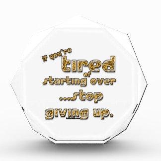 Si usted está cansado de comenzar sobre…