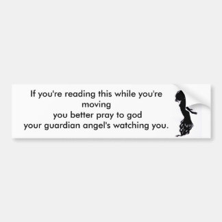 Si usted está leyendo esto…. etiqueta de parachoque