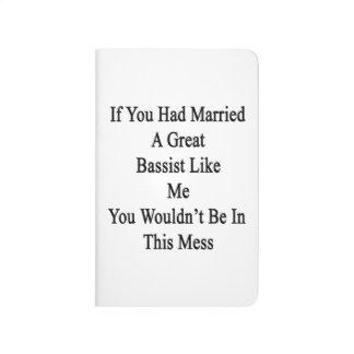 Si usted había casado a un gran bajista como mí cuaderno