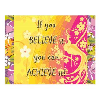 ¡Si usted lo cree usted puede alcanzarlo! Postales