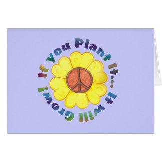 Si usted lo planta…. Tarjeta de nota