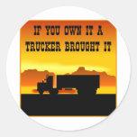 Si usted lo posee un camionero le trajo #0011 pegatinas
