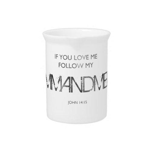 Si usted me ama jarras de beber