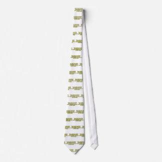 Si usted me coge misión secreta el mirar fijamente corbata personalizada