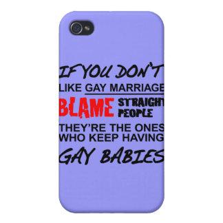 Si usted no hace matrimonio homosexual iPhone 4/4S carcasa