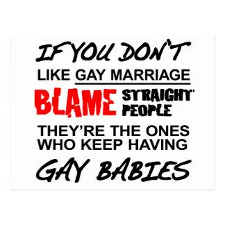 Si usted no hace matrimonio homosexual postales