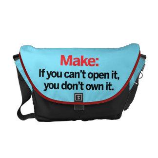 Si usted no puede abrirlo bolsas messenger