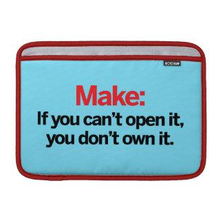 Si usted no puede abrirlo fundas MacBook