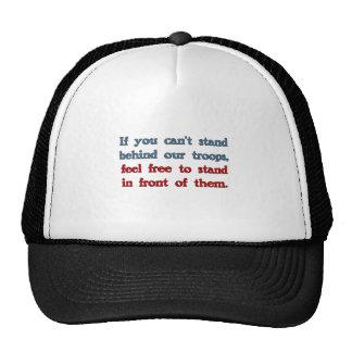 Si usted no puede colocarse detrás de nuestras tro gorras de camionero