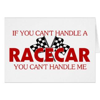 Si usted no puede dirigir un Racecar…. Tarjeton