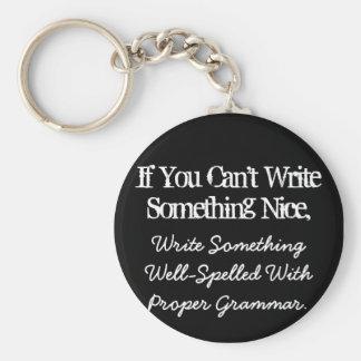 Si usted no puede escribir a algo Niza llavero