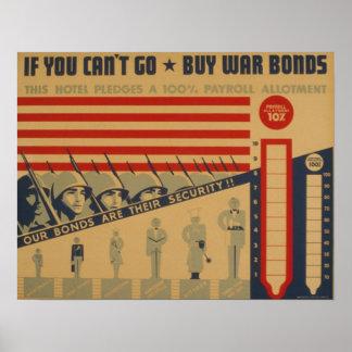 Si usted no puede ir - compre enlaces de guerra póster
