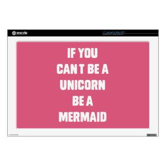 Si usted no puede ser un unicornio, sea una sirena calcomanía para 43,2cm portátil