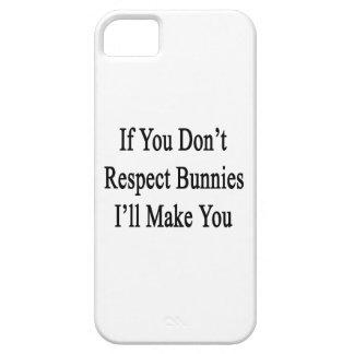 Si usted no respeta conejitos le haré iPhone 5 Case-Mate cobertura