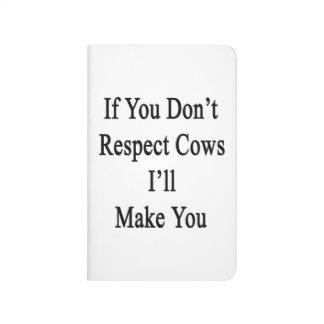 Si usted no respeta vacas le haré cuaderno