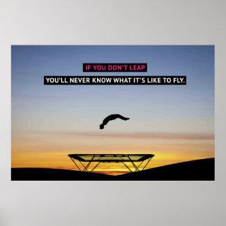 Si usted no salta - poster de motivación de la póster