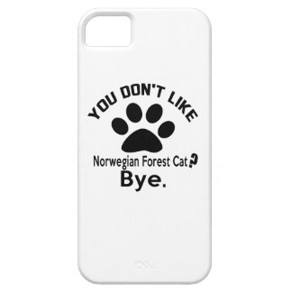 Si usted no tiene gusto de adiós noruego del gato funda para iPhone 5 barely there