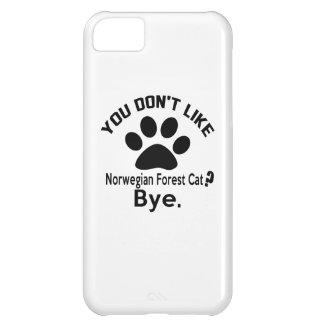 Si usted no tiene gusto de adiós noruego del gato funda para iPhone 5C