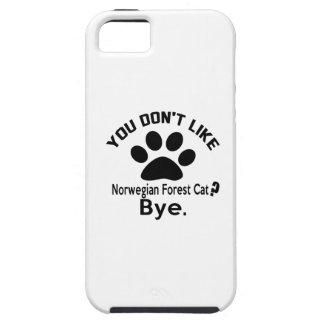 Si usted no tiene gusto de adiós noruego del gato iPhone 5 carcasa