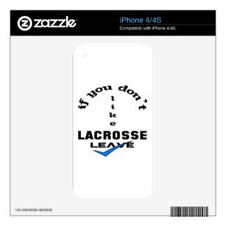 Si usted no tiene gusto de la licencia de LaCrosse Skins Para iPhone 4S