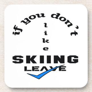 Si usted no tiene gusto de licencia de esquí posavaso