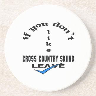 Si usted no tiene gusto de licencia del esquí del posavasos diseño