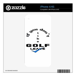 Si usted no tiene gusto de licencia del golf iPhone 4 skins