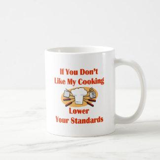 Si usted no tiene gusto de mi cocinar más bajo sus taza