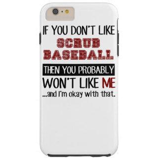 Si usted no tiene gusto friegue el béisbol fresco funda resistente iPhone 6 plus