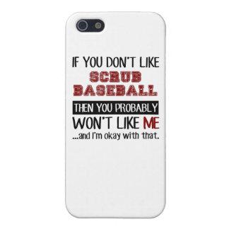 Si usted no tiene gusto friegue el béisbol fresco iPhone 5 funda