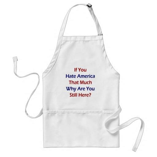 Si usted odia América esa mucho porqué todavía est Delantal