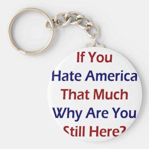 Si usted odia América esa mucho porqué todavía est Llaveros Personalizados