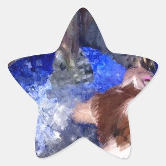 Si usted oye las voces _PAINTING jpg Pegatinas Forma De Estrellaes