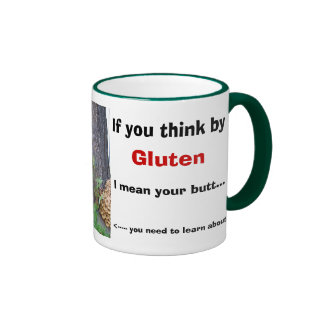 Si usted piensa cerca, gluten, significo su pero… taza a dos colores