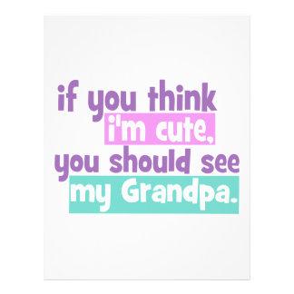Si usted piensa Im lindo - abuelo Plantilla De Membrete