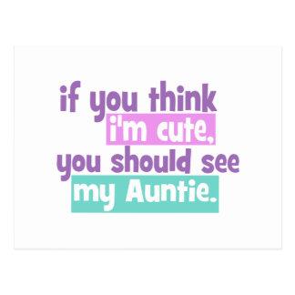 Si usted piensa Im lindo - tía Tarjeta Postal