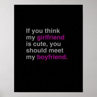 Si usted piensa mi novia es linda póster